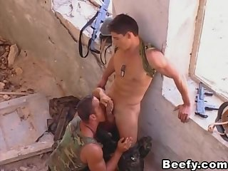 Muscular Military Gays Likes Anal Sex