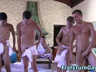 Straight skater being anally fucked at sauna