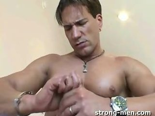 Cute Mature Stud Beating Off