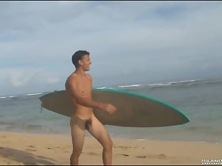 Cute Guy Beating Off On The Beach