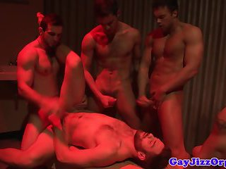 Athletic hunks in mazol party in cluster fuck