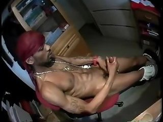 Horny Ebony Guy Solo Masturbation