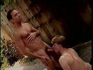Randy gay guys outdoor fuck