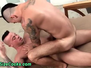 Sucked Muscly Hunk Rides Big Rod