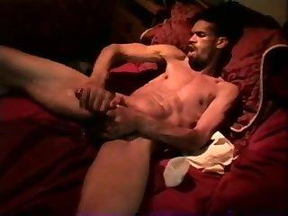Luscious Ebony Guy Solo Masturbation