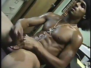 Luscious Ebony Stud Solo Masturbation