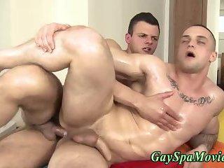 Masseur fucks straighty bareback