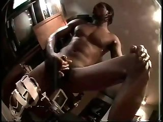 Randy ebony guy solo masturbation