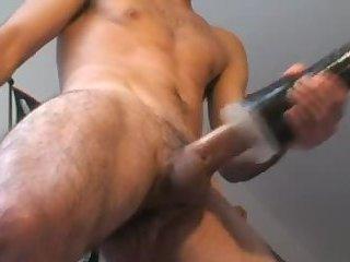 Randy guy toying his erect dick