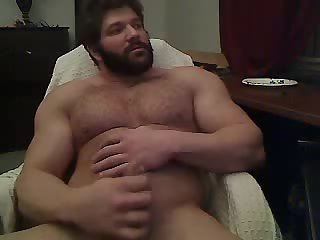 Nasty Bear Solo Masturbation