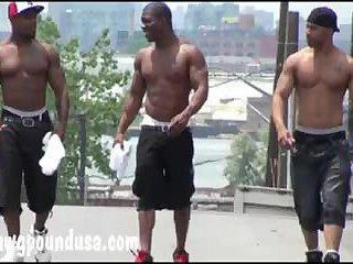 Naughty Interracial Trio Fucking