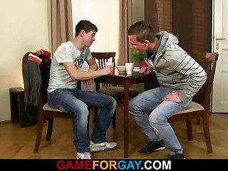 Hetero guy is seduced by a gay