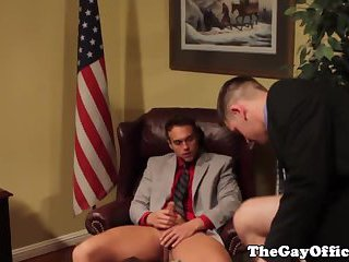 Muscular hunks blow each other thick dick