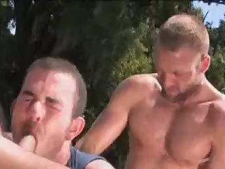 cowboy trio outdoor fucking