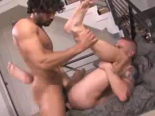 Nasty dudes in tats fucking