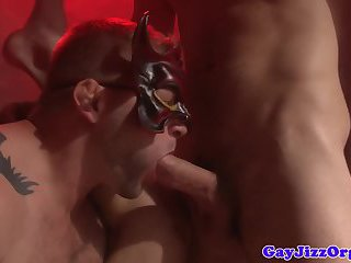 Colby Jansen and pals at a masked orgy