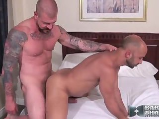 Nasty gay studs ass pounding