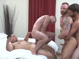 Muscle Guys Group Fuck