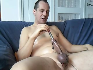 Mature Guy Toying His Dick