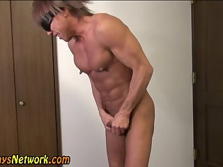 Muscly fetish asian solo