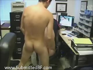 After hours at the office