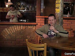 he seduces and fucks bartender