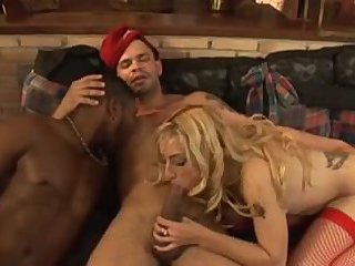 Naughty Bisexual Interracial Threesome