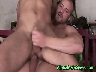 Straight jock makes a big bear cum