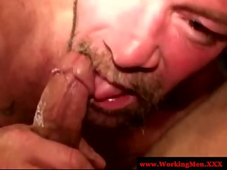 Up close blowjob for a mature gay guy