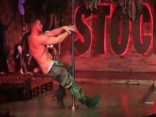 Beefy Guys Dancing Striptease
