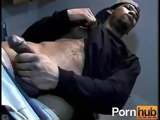 Ebony Guy Wanking Big Dick