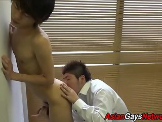 Asian amateur gets rimmed
