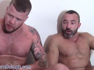 Amateur bears cum spray
