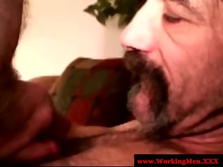 Hairy gaystraight bear sucking cock