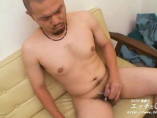 Randy Asian Solo Cock Tugging