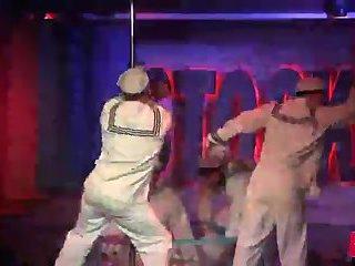 Horny Sailors Strip In A Club