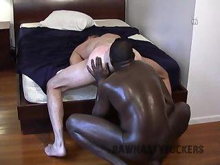 Black gay fuck white ass