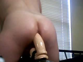Big Huge Thick Dildo Ass Fuck Pounding