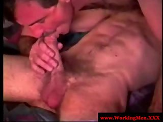 Dirty redneck gets bareback action