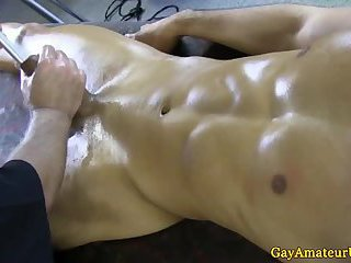Gaystraight hunk teased and tugged