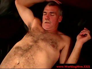 Straight mature bears love dick sucking