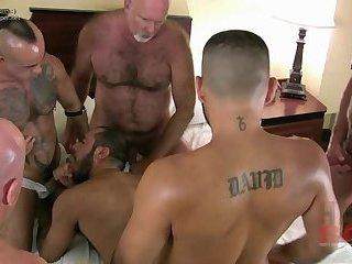 HairyAndRawcom  Pablo Paris bottoms for FIVE Hairy Fuckers