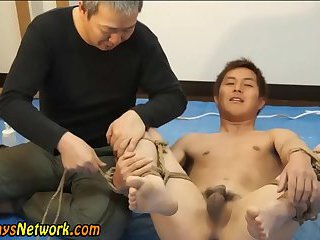 Bound asian ass toyed