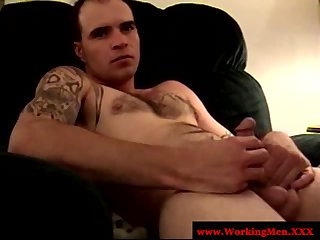 Old mature straight redneck sucks dick