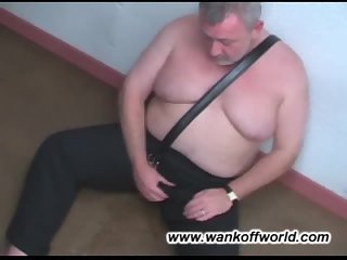 Old Chubby Gay Beating Off