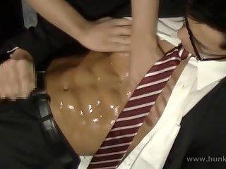 Sexy Asian Worker Gets Handjob