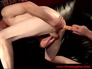 DILF mature redneck toy plays with buddy