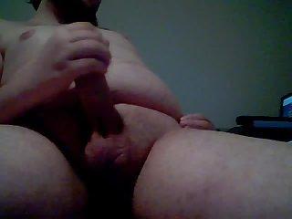 Fat mature dude cock  jerking