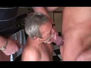 Nasty Guys Get Blowjob From Mature