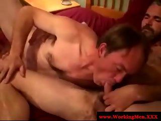 Straight amateur blow each other
